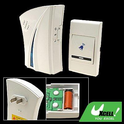 Stylish Wireless Flash Light Remote Control Doorbell White