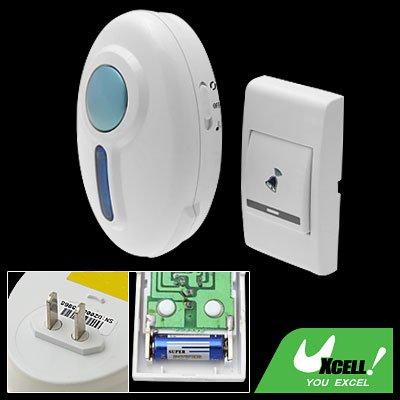 Remote Control Flash Door Bell Wireless Chime Doorbell White