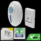 Remote Control Flash Door Bell Wireless Chime Doorbell White
