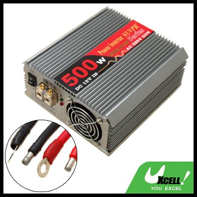Car 500W DC 12V to 2 Output AC 220V Power Inverter