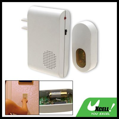 White Remote Control Wireless Cordless Doorbell Door Chime