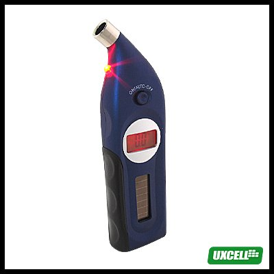 Solar Power LCD Digital Tire Tyre Gauge (CC-106A) - Blue