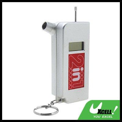 2 in 1 Key ring Digital LCD Tire Pressure Gauge 0-120 PSI Reading
