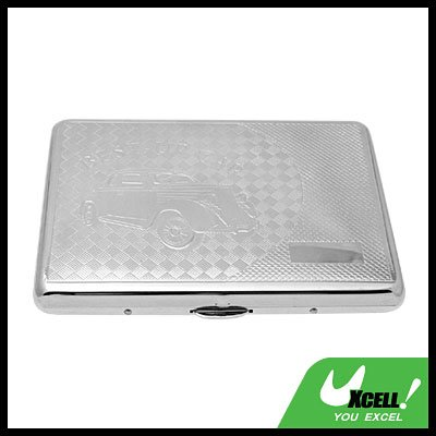 Travel Stainless Steel Cigarette Box Case - Silvery