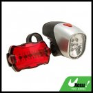 6 LED Bike Headlight 5 LED Rear Flash Light Lamp Bicycle Torch