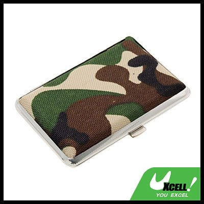 Camouflage Army  Box Case Holder for 14 Cigarettes