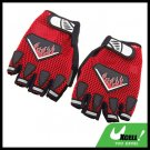 Large Sports Mountain Bike Driving Fingerless Gloves Red