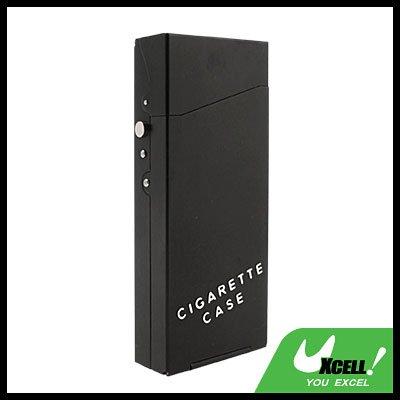 Nobby Lady's Aluminum Cigarette Case Box Holder Black