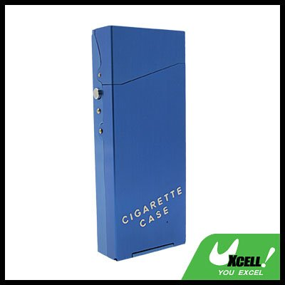 Nobby Lady's Auluminium Cigarette Case Box Holder Blue