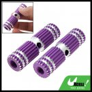 "Two Purple Uneven Steel BMX Bike Bicycle 3/8"" Axle Foot Pegs"