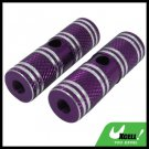 "Two Steel 3/8"" Axle Foot Pegs Purple for BMX Bicycle Bike"
