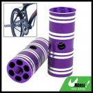 "Two Steel BMX Bike Bicycle 3/8"" Axle Foot Pegs Purple"