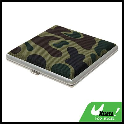 Vintage Camouflage Box Case Holder for 20 Cigarettes