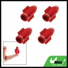 4Pcs Aluminium Bullet Car Wheel Tyre Valve Dust Cap Cover Red (ZHB-510)