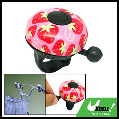 Classic Strawberry Design Bike Bicycle Bell Pink & Black