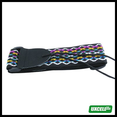 Durable Adjustable Guitar Strap - Criss Cross Colors
