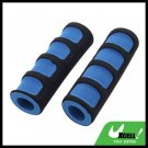 2PCS Foam Road Bike Bicycle Handle Bar Grips Black and Blue