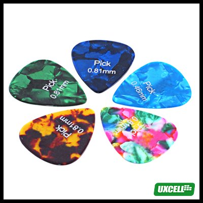 Simulated MOP Guitar Picks Ecstasy Colrs