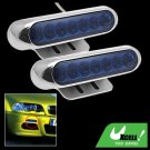Two Super Bright Car Auto Blue 7 LED Day Light Lamp 12V (SL-635)