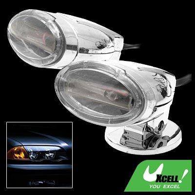 Car Auto Tail Sticker White Flash Light Rear Lamp DC 12V