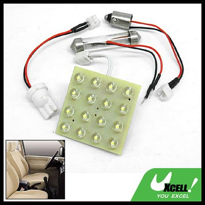 Car Auto Interior Dome Light Lamp Replacement 16 LED Bulbs