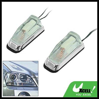 Super Mini Two Crystal Car Auto Mount Decorative Light Lamp 12V