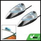Two Mini Crystal Car Auto Mount Decorative Blue Light Lamp 12V (TY-808)