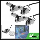 Silvery Adjustable Angle 4 Blue LED Car Auto Light Lamp DX - 004