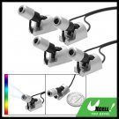 Silvery Adjustable Angle 4 Coloful Flash LED Car Auto Light Lamp DX - 004