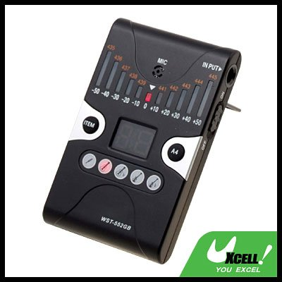 Chromatic Guitar Tuner Bass Tuner A4 Tone Generator Musical Instruments (Cherub WST-552GB)