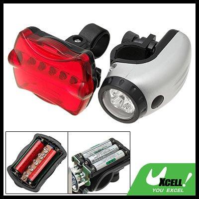 5 LED Bike Headlight 5 LED Rear Flashlight Bicycle Lamp