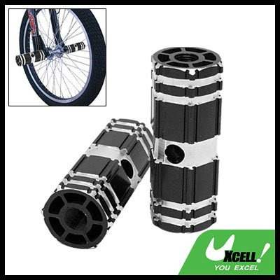 "3/8"" Axle Aluminum Foot Pegs Black for BMX Bicycle Bike"