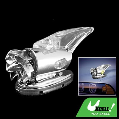 Mini Wind Powered Crystal Car Auto Colorful Light Lamp