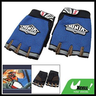 Men's Mountain Bike Driving Sports Fingerless Gloves Blue