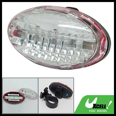 5 LED Safety Bike Bicycle Rear Lamp with Blue Red Light