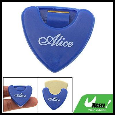 Blue Plastic Beat Guitar Pick Holder Carrying Case