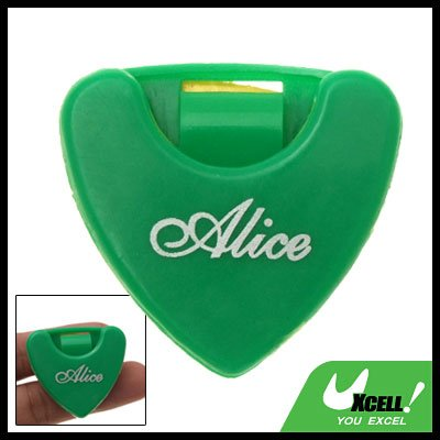 Green Plastic Beat Guitar Pick Holder Carrying Case