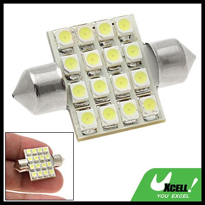 White SMD 16-LED Car Light Lighting System Bulb Lamp