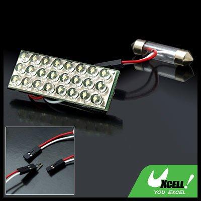 1 x 24 LEDs Car Auto Interior Dome Box Light Lamp