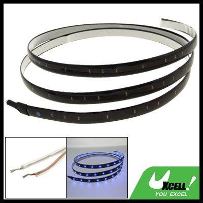 120CM Flexible Strip Car Light Auto Lamp w/ 60 Blue LED