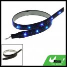 30CM Flexible Car Vehicle Blue Light Strip Lamp 15 LED