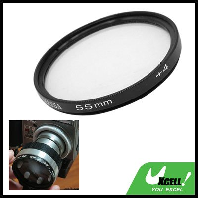 55mm +4 Close-up Attachment Lens f1000mm Filter for Nikon Canon Camera