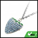 Fashion Jewelry Sapphire Color Strawberry Pendant Necklace Watch