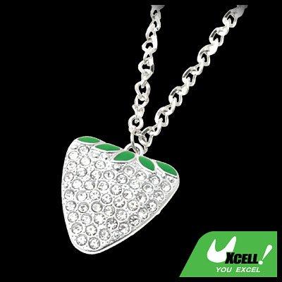 Fashion Jewelry Crystal Style Rhinestone Strawberry Pendant Necklace Watch