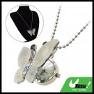 Fashion Jewelry Rhinestone Crystal Butterfly Pendant Sweater Chain Necklace Girl's Watch