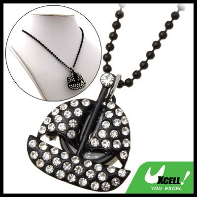 Fashion Jewelry Pure Rhinestone Sail Boat Pendant Lady's Sweater Chain Necklace Watch