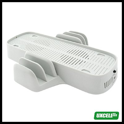 2 in 1 Game Disc Case Stand + Cooling Fan for XBox 360 (PG-8305B) - White