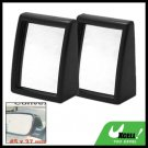 Two Convex Wide Angle Blind Spot Car Mirrors Black