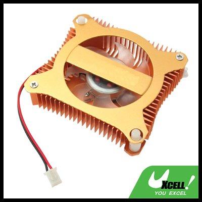 PC VGA Video Card Heat sinks Cooler Cooling Fan - Copper Color