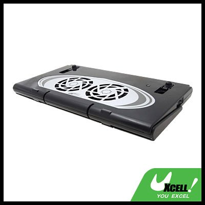 USB 2.0 Cooler Cooling 2 Fan Pad for Laptop Notebook PC@